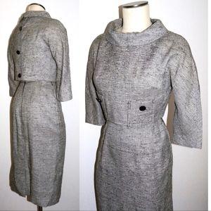 VTG 1950s 60s Chic Pencil Skirt Dress Jackie O